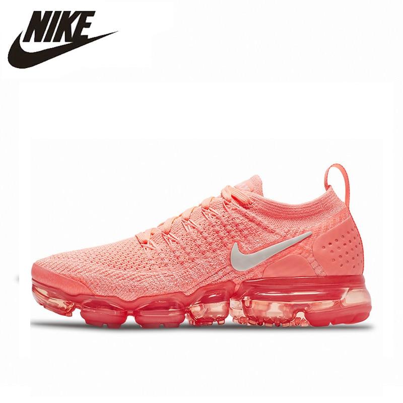 dadaaa917246c Nike Air Vapormax Flyknit 2.0 Women s Running Shoes Light Pink Lightweight  Non-slip Shock Absorbing