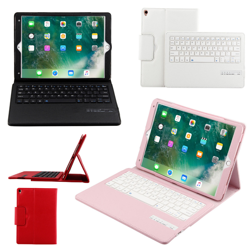 Russian/Hebrew/Spanish Detachable Wireless Bluetooth Keyboard Stand PU Leather Cover Case For Apple iPad Pro 10.5 10.5