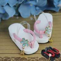 Toy Clogs Slippers 1/4 1/3 Doll Shoes Cherry Blossoms A2 SD MSD BJD Shoes For 1/3 1/4 Doll Accessories Toys For Girls Kid Gifts