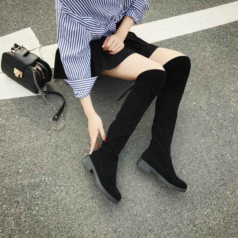 IAHEAD  Boots Sexy over the knee high Suede women snow boots women's fashion winter thigh high boots shoes Slim woman UPC144 2018 new winter women boots sexy over the knee high snow boots women s fashion winter thigh high boots shoes woman plus size 43
