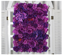 60x40cm  Artificial silk flower Panels, Roses, Peonies, hydrangea floral backdrop for wedding party wall decoration