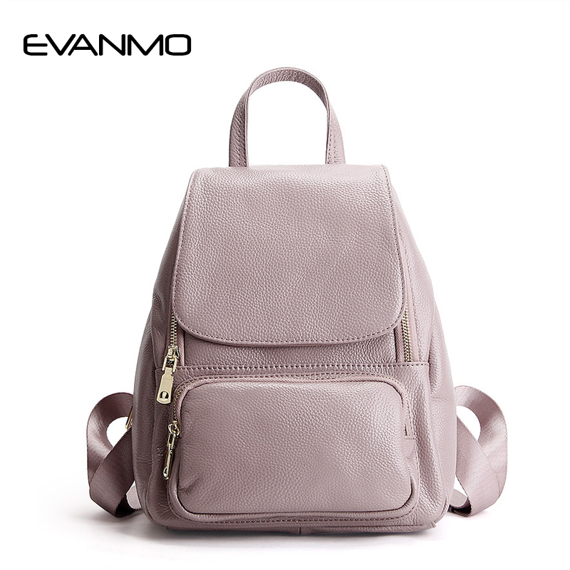 Women Leather Backpack Pink Bolsas Mochila Feminina Large Girl Schoolbag Travel Bag Genuine Leather Lady Backpacks Candy Color new women leather backpack black bolsas mochila feminina girl schoolbag travel bag solid candy color green pink beige