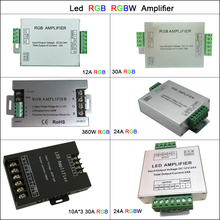 цена на Aluminum Led Controller DC5V-24V 12A/24A/30A 3CH 4CH Led RGB RGBW Amplifier for 5050 3528 Led Strip Tape Power Repeater Console