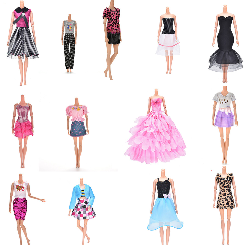 Elegant Handmade Party Dress For Doll Floral Doll Dress Clothes Clothing Or Crystal Shoes Dolls Accessories