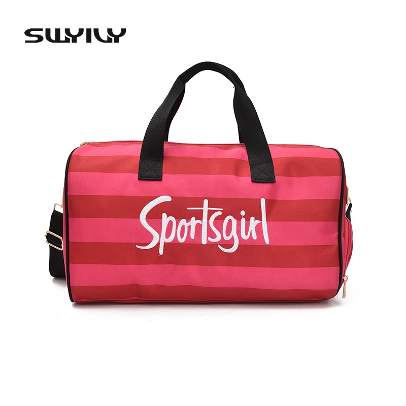SWYIVY nagyméretű női sporttáskák Lányok Fitness PU vízálló táskák ... 966ed97cff