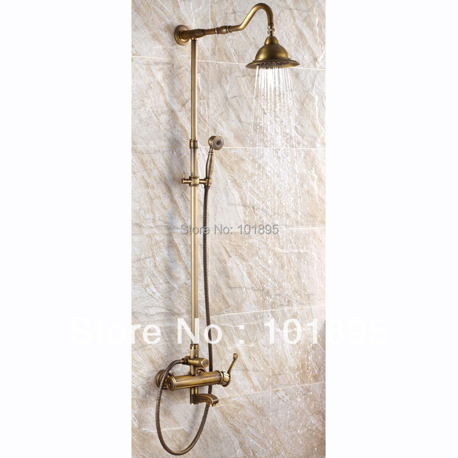 L15852 Luxury Wall Mounted Bronze Finish Brass Rainfall Shower Bar