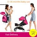Ligero cochecito de bebé plegable y portable de 175 grados para niños de 0 - 3 años con sombrilla y amortiguadores de sacudidas y golpes en auto, entrega gratis