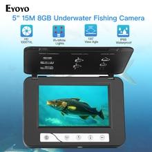 """Eyoyo EF15R 5 """"インチ 15 メートル 30 メートル 1000TVL魚ファインダー水中釣りカメラ 4 個赤外線 + 2 個の白色ledのため/海"""
