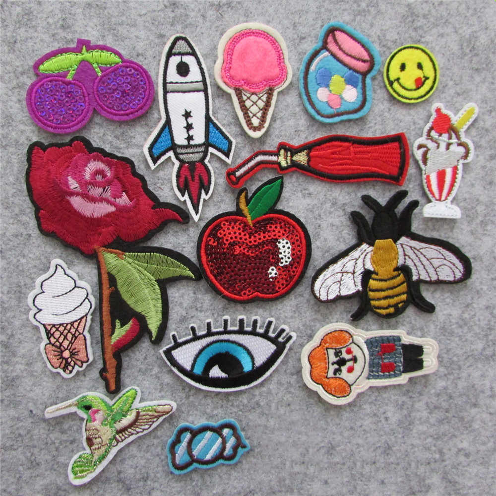 hot 16kind different style patches hot melt adhesive applique embroidery patch stripes DIY clothing accessory patch C5631-C5654