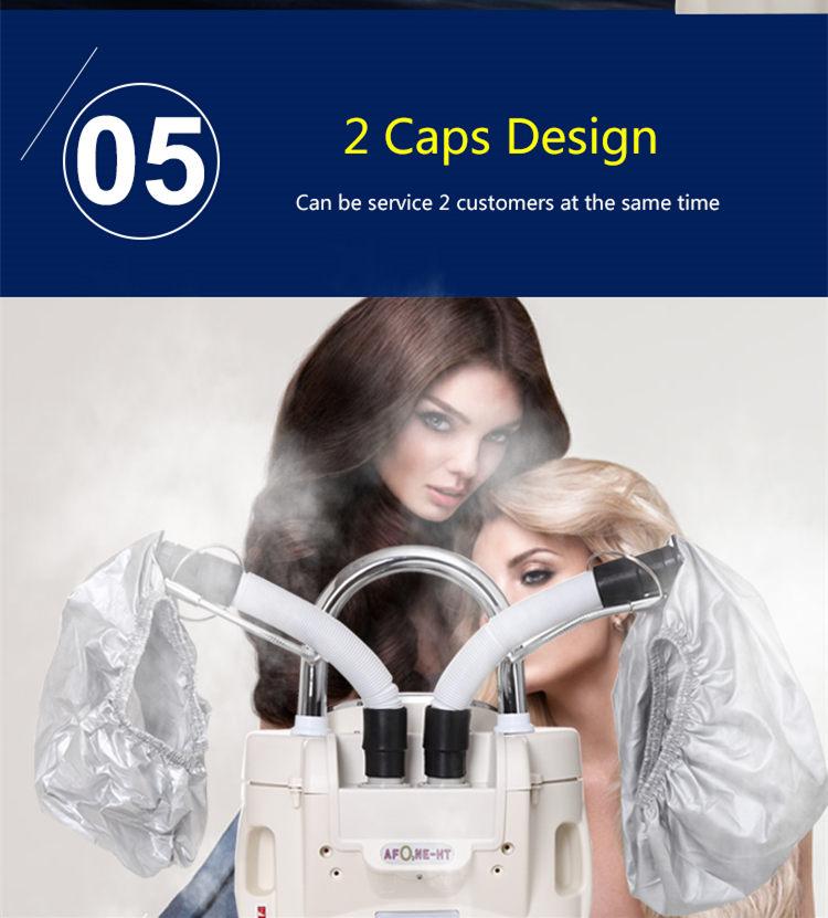 Salonas turi turėti 2 galvutes O3 Ozono plaukų priežiūros mašina terminis plaukų apdorojimo aparatas plaukų džiovintuvas plaukų garintuvas