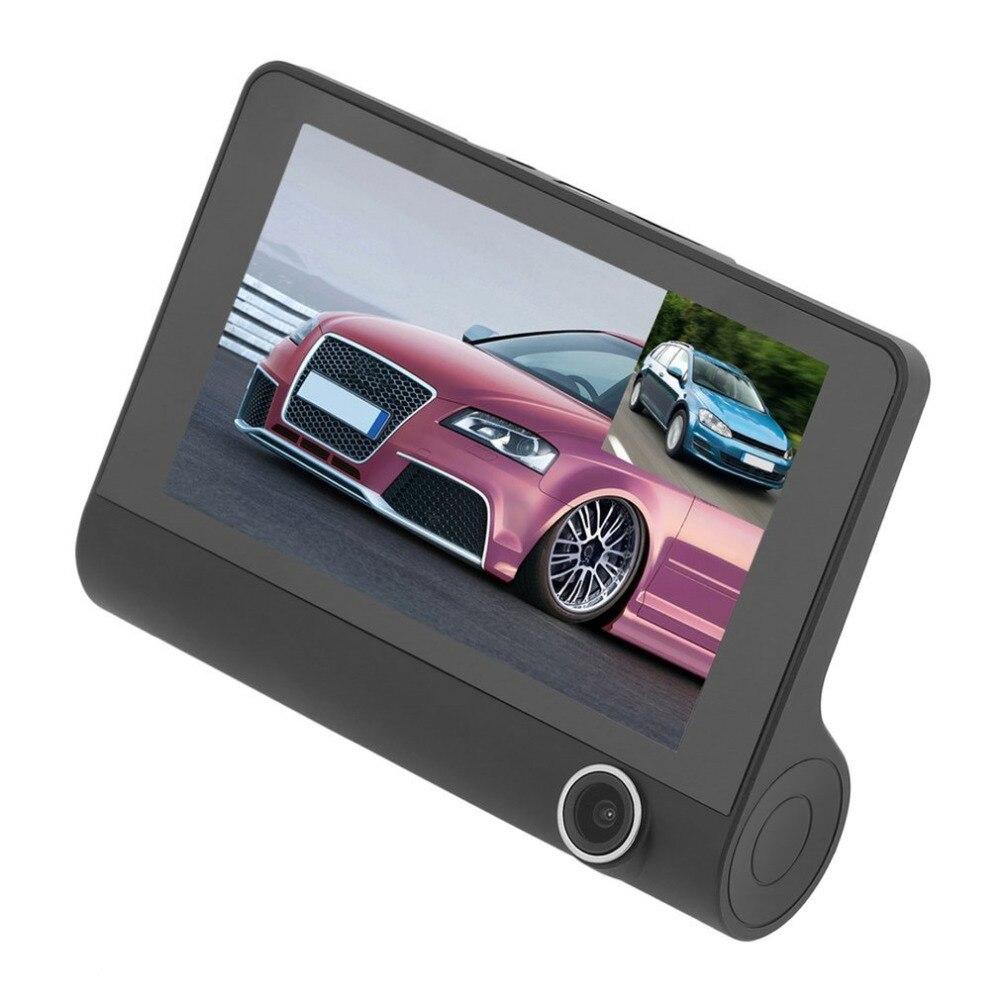 Professional 4.0 Inch Display Dual Lens Car Dash Cam DVR Support Reversing Visual G-Sensor Vehicle Video Camera Recorder