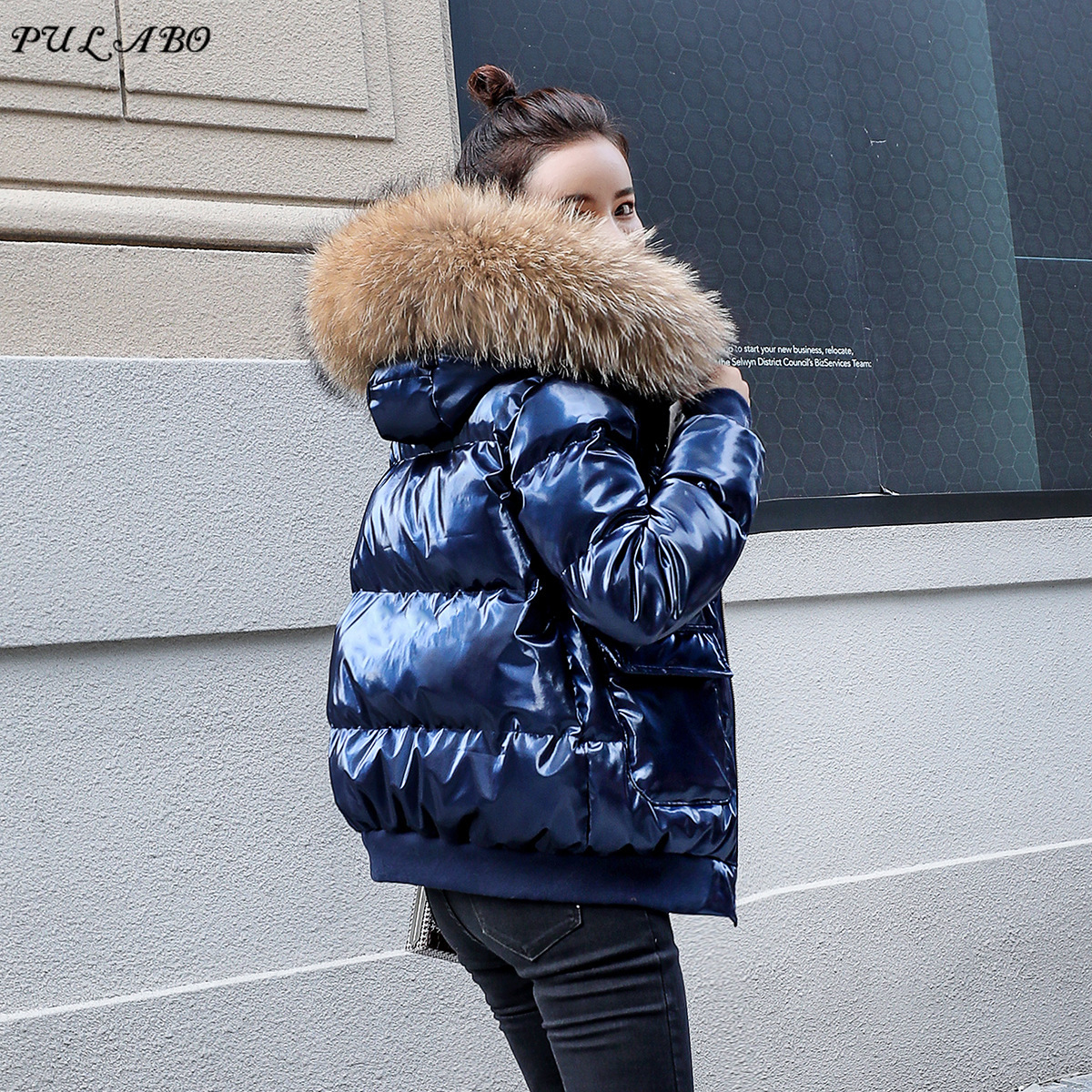 Women Winter Jacket   Down     Coat   Real Fox Fur Collar   Down   Parka Outerwear Thick Warm Clothing Spring Fashion Duck   Down   Jacket