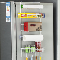 1PCS High Quality Metal Refrigerator Storage Holder Rack Fridge Multi Layer Shelf Holder Kitchen Hook Storage