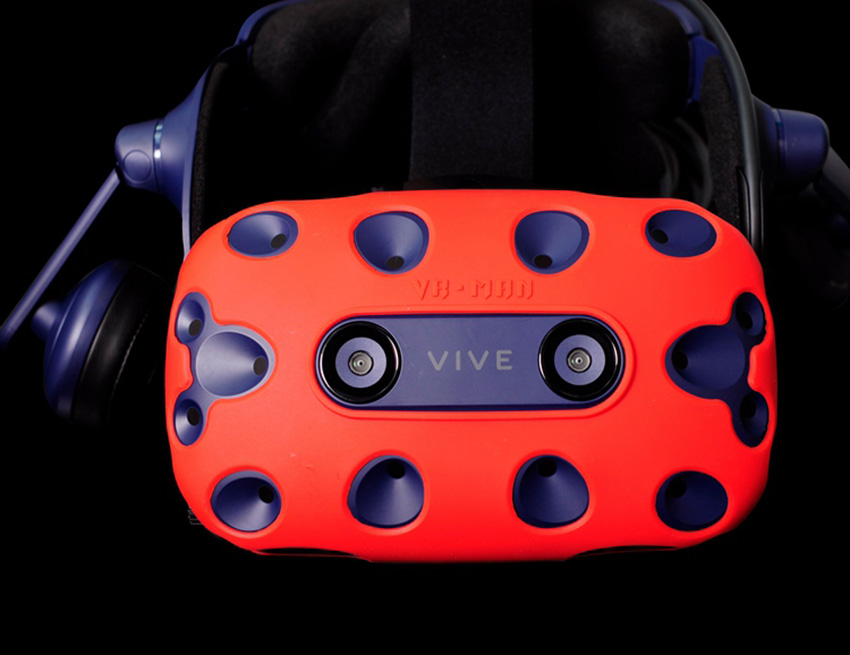 For HTC VIVE PRO VR Virtual Reality Headset Silicone Rubber VR Glasses Helmet Controller Handle Case 0033