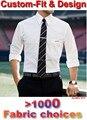 Mens Camisas de Vestido Feito Sob Encomenda Branco Dos Homens Camisa de Manga Longa Camisas Dos Homens da manta Listrada Moda Sob Medida Personalizado Slim Fit Camisa vestido
