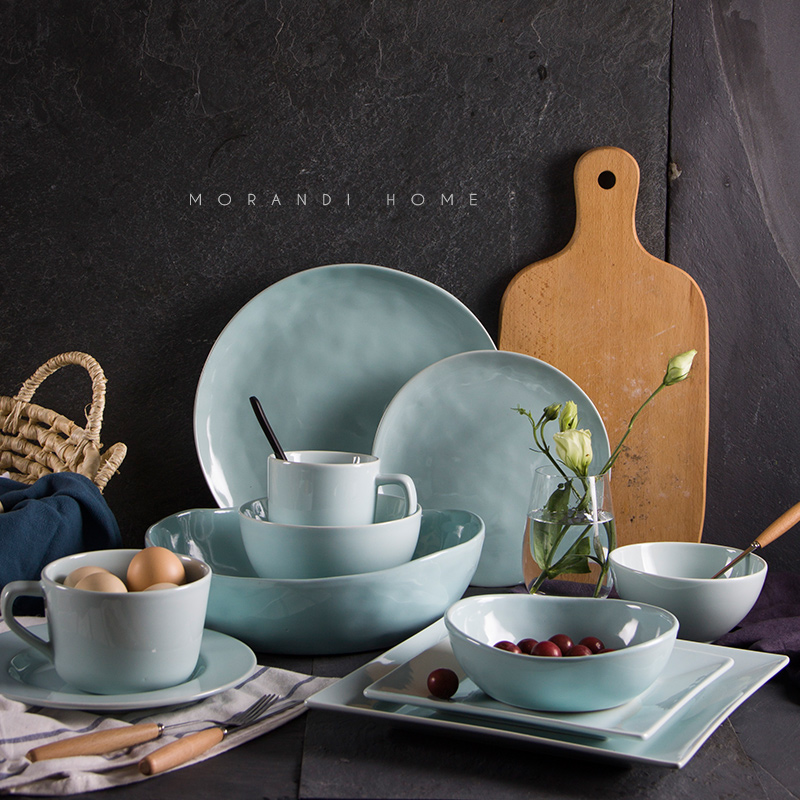 Western Ceramic Tableware Steak Salad Bowl Disc Tray Western style Food Dish Dessert Plate Dishes and Plates Sets-in Dinnerware Sets from Home \u0026 Garden on ... & Western Ceramic Tableware Steak Salad Bowl Disc Tray Western style ...