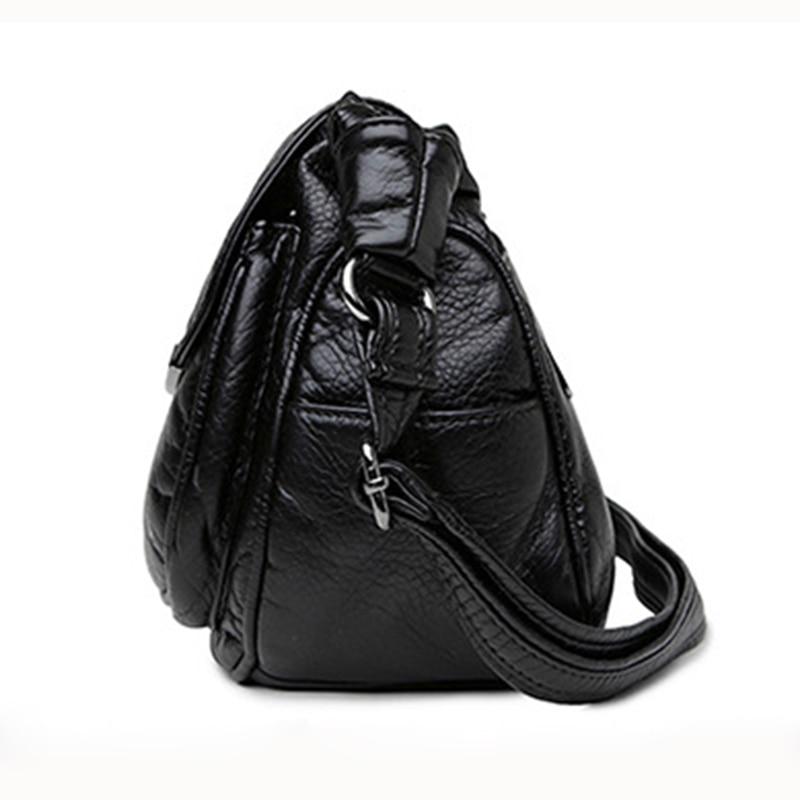 IMIDO 2018 Luxury Design Women Genuine Leather Bag Soft Sheepskin Messenger Bags Female Shoulder Bag Crossbody Black Blue MG022