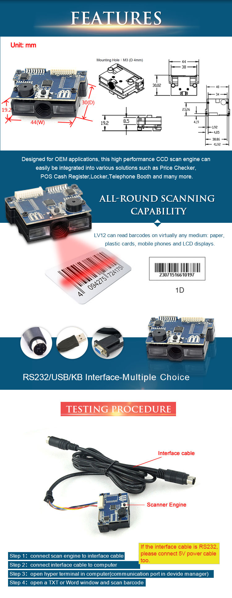 China barcode scanner module Suppliers
