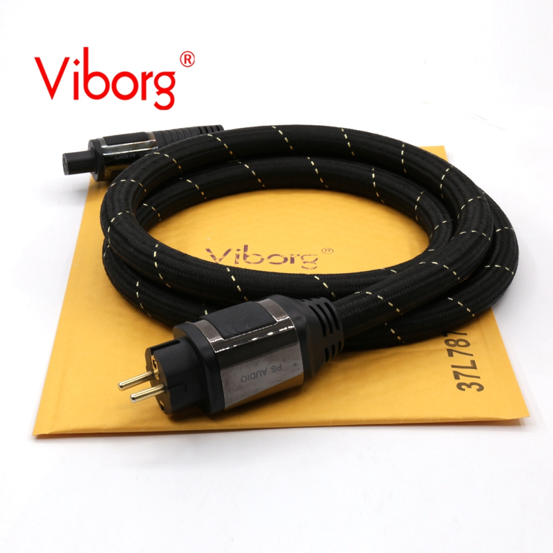 Free shipping Viborg PS AC-12 EUR Schuko power cable hifi power cord Schuko power cord with Eu version power plug new rg316 coaxial cable sma male to rp sma male plug pigtail 15cm 6inch rf adapter wire connector