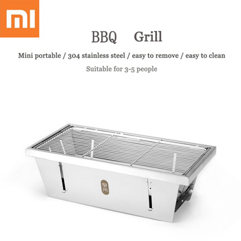 Original Xiaomi mijia zaofeng BBQ Grill Stainless Steel Folding Barbecue Stove Charcoal Barbecue Rack For Camping BBQ Tools
