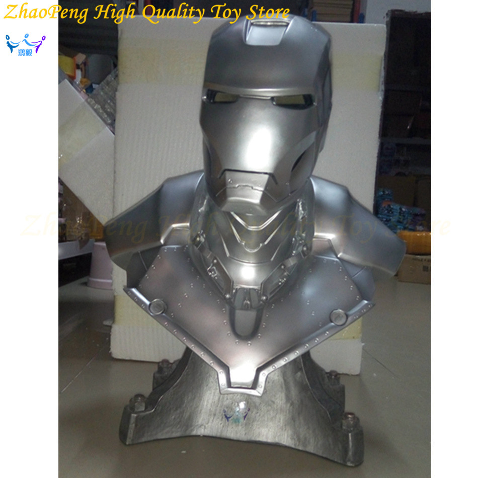Iron Man Bust Action Figure 1/1 scale  MARK II Painting figure Resin Status Collectible Bust Dolls Resin Anime figure  Garage Ki
