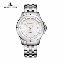 Reef Tiger/RT Watches New Arrival Business Dress Watches Automatic Date Mens Full Steel Luminous Watches RGA819