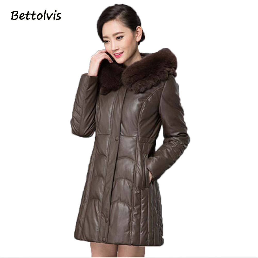 new 2017 winter warm big fur collar long down cotton jacket middle aged women hooded plus size. Black Bedroom Furniture Sets. Home Design Ideas