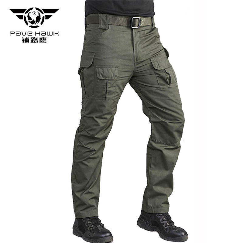 IX10 Cotton Waterproof Tactical Cargo Pants Mens Silm Casual Pants Mens Trousers Army Military Women Pants Moto Biker Safari Men