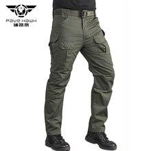 IX10 Cotton Waterproof tactical Cargo pants mens silm Casual Pants mens trousers Army military women pants Moto biker safari Men