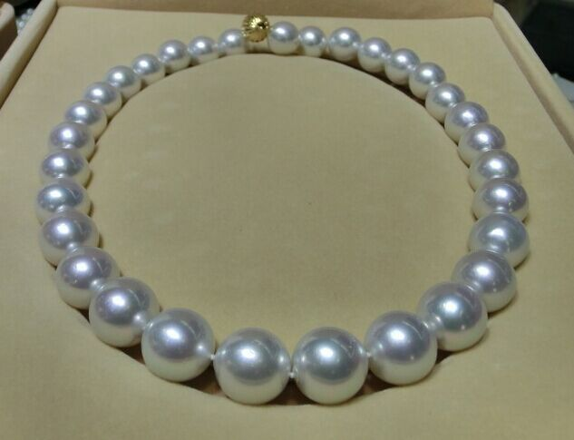 Hot sell Noble- hot sell new - Huge 18 13- 15mm Natural South Sea genuine white round nuclear pearl necklace AAa+Hot sell Noble- hot sell new - Huge 18 13- 15mm Natural South Sea genuine white round nuclear pearl necklace AAa+