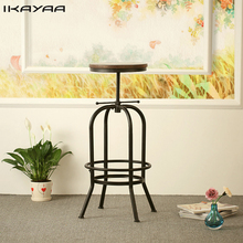 iKayaa Industrial Style Bar Stool Height Adjustable Swivel Bar Stool Natural Pinewood Top Kitchen Dining Chair  sc 1 st  AliExpress.com & Free shipping on Bar Stools in Bar Furniture Furniture and more ... islam-shia.org