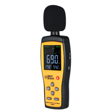 3 In 1 Digital Sound Level Meter Temperature Humidity Meter 30-130 dB Noise Volume Tester with USB Connect Computer Function цена