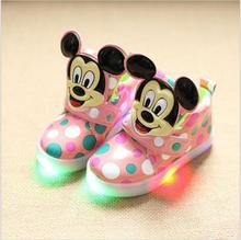 children's LED lights shoes autumn girls and boys fashion antislip soft bottom kids shoes comfortable Luminous sneaker