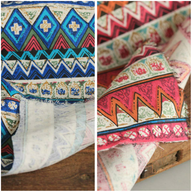 50x145 cm estilo retro de la vendimia de lino de algodón de Tapicería de Bosnia