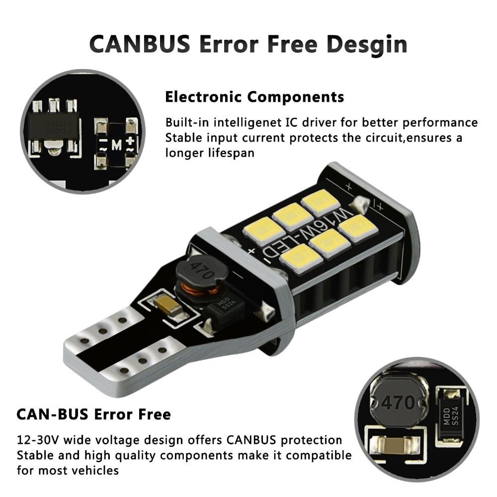 HTB1CNSBbyHrK1Rjy0Flq6AsaFXau 2x W16W T15 LED Bulbs 2835 SMD Canbus OBC Error Free LED Backup Light 921 912 W16W LED Bulbs Car Reverse Lamp Xenon White DC12V