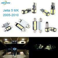 XIEYOU 10 sztuk Zestaw Światła LED Canbus Wnętrza Pakiet Dla Volkswagen VW Jetta MK 5 (2005-2010)