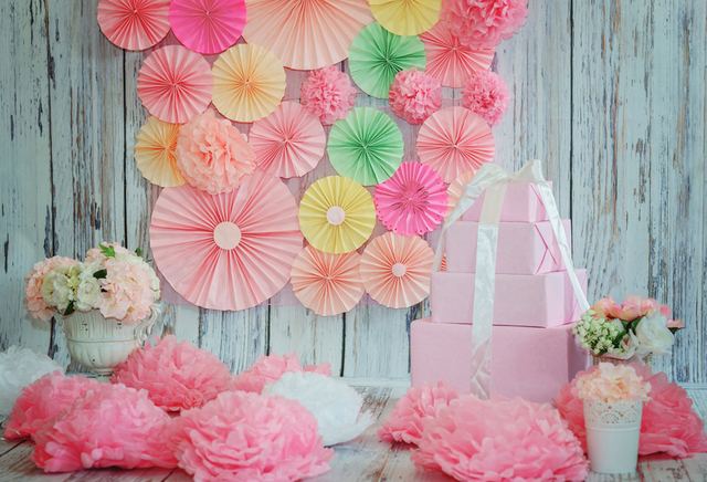 Aliexpress buy photography backdrops birthday backdrop blue photography backdrops birthday backdrop blue wood wall pink paper flowers photo backdrop baby shower birthday background mightylinksfo