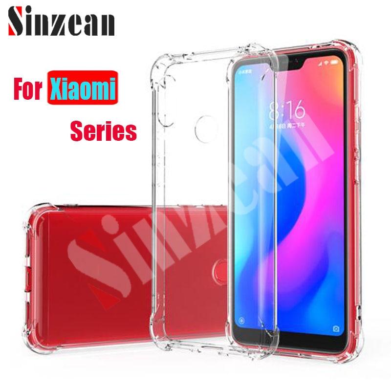 Sinzean 100pcs For Xiaomi pocophone F1 1 5mm Anti knock Clear TPU Case For Xiaomi 6X