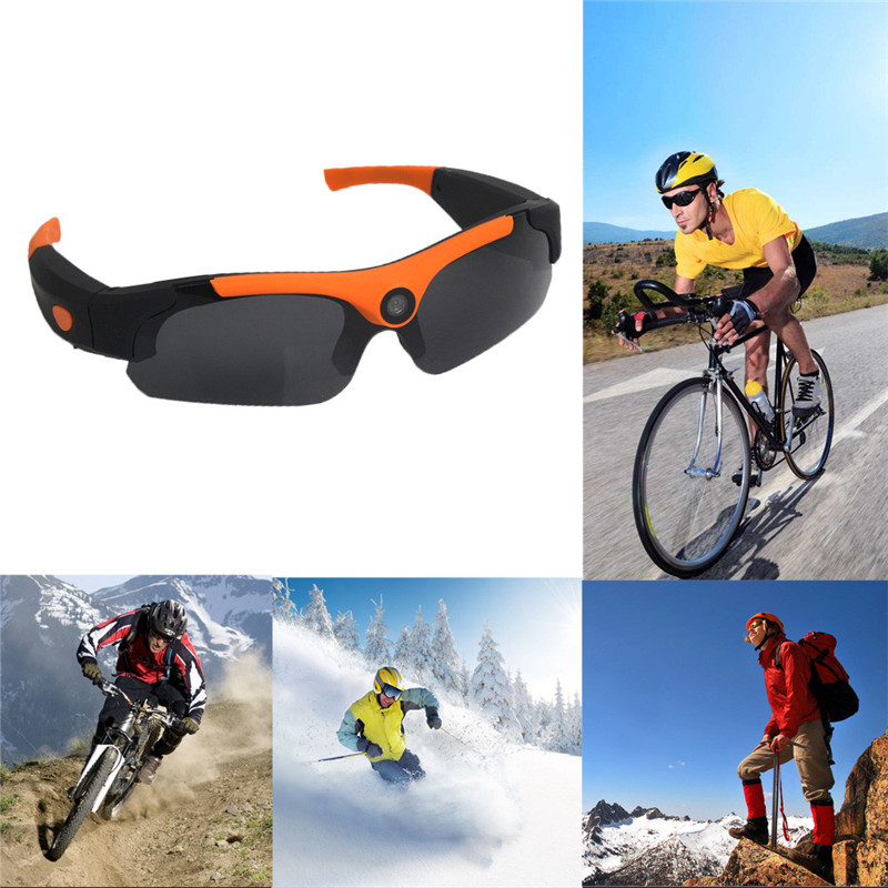 ФОТО Ultra Wide Angle 1080P HD Camera Sport Bicycle Sunglasses DVR Sports Action Camera USB Charge