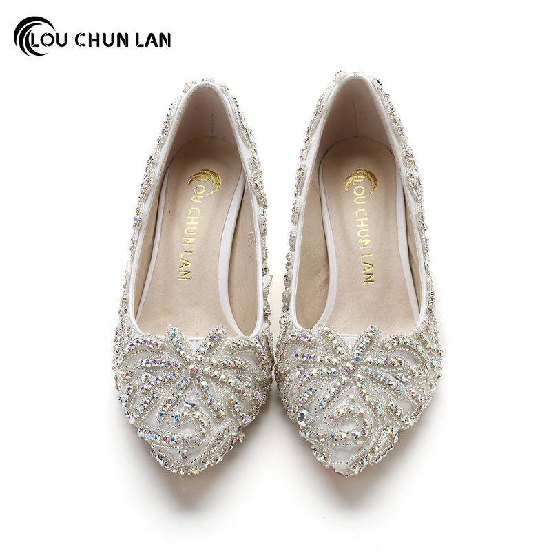 Crystal High Heel formal dress Shoes Thin Heels Shoes pointed Toe ...