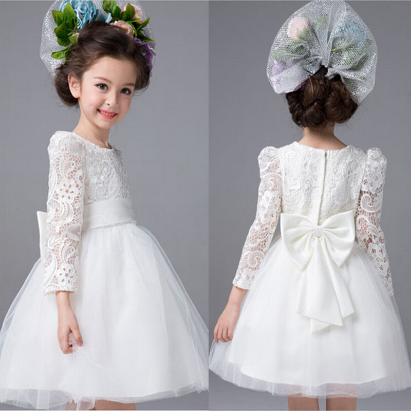 High Quality Long Sleeve Flower Girl Dresses-Buy Cheap Long Sleeve ...