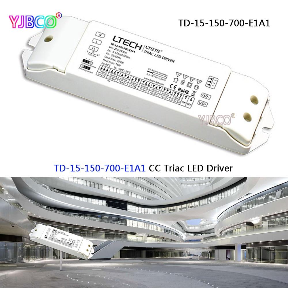 Beleuchtung Zubehör Rational Td-15-150-700-e1a1; 15 Watt 150-700ma 200-240vac Pwm Konstante Strom Triac Dimmbare Intelligente Led-treiber Triac Push Dim