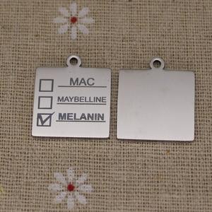Image 4 - Ladyfun Aanpasbare Rvs Charm MAC Hanger Melanine Makeup Mac Maybelline Melanine Bedels Voor DIY Sieraden Maken