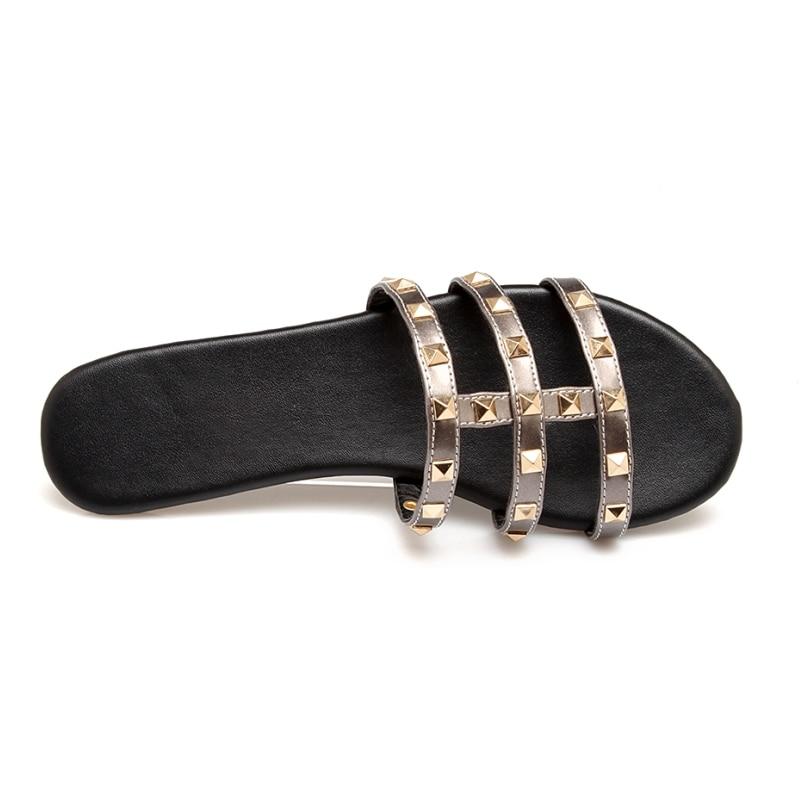 SARAIRIS Summer Plus Size 34-43 zapatillas con remaches punk Comfort - Zapatos de mujer - foto 4