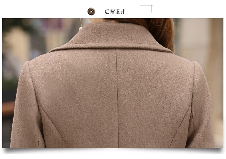 Outerwear Overcoat Autumn Jacket Casual Women New Fashion Long Woolen Coat Single Breasted Slim Type Female Winter Wool Coats 13