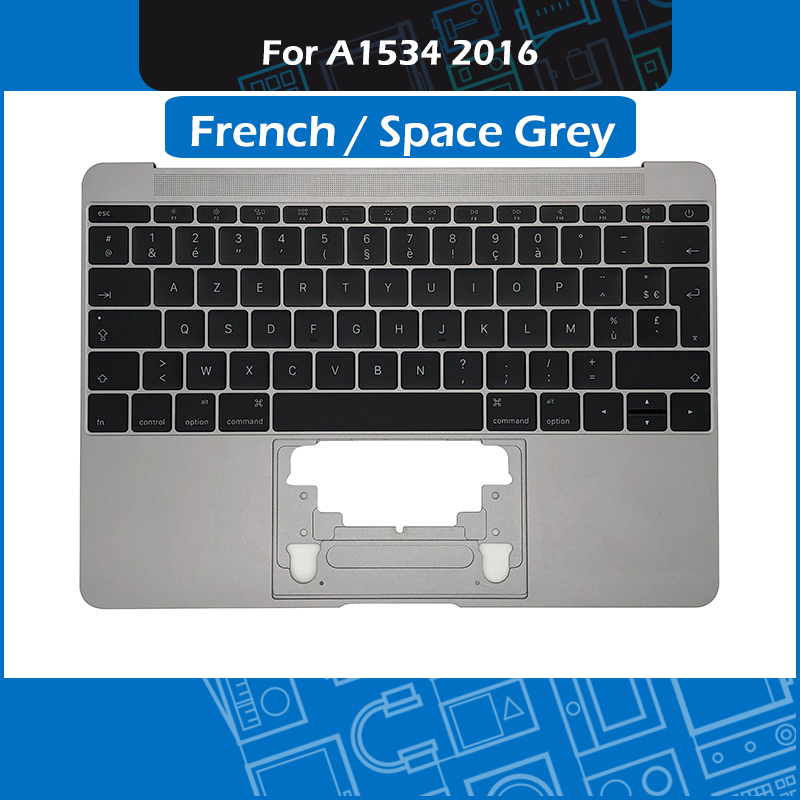 Space Grey A1534 Top Case w French Keyboard 613 02547 09 for Macbook Retina 12 A1534