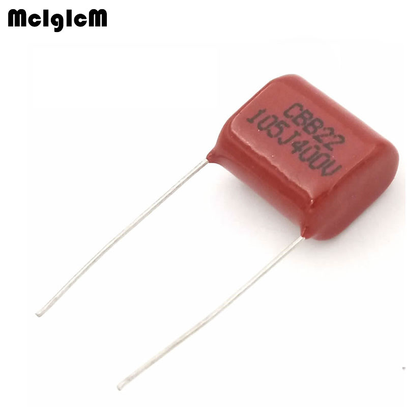 MCIGICM 1000 pcs 1uF 105 400V CBB Polypropylene film capacitor pitch 15mm 105 1uF 400V