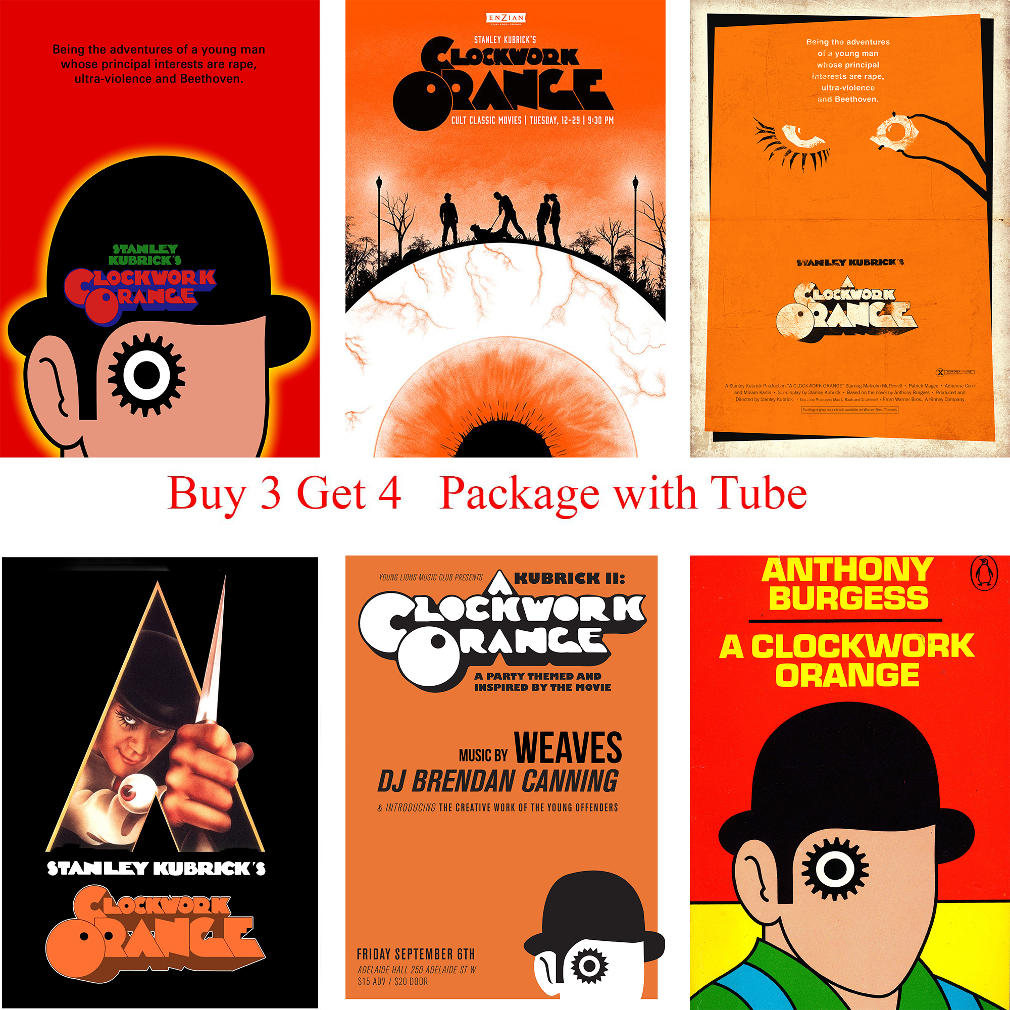 top 9 most popular clockwork orange wall sticker ideas and get free