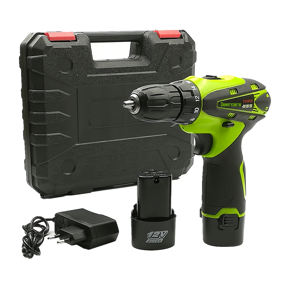 12v Cordless Screwdriver Rechargeable Drill Mini Electric Drill Two Lithium Battery Parafusadeira Furadeira Tools Plastic Case lomvum 12v 16 8v 21v cordless rechargeable lithium battery electric screwdriver mini drill kit furadeira screw gun longyun