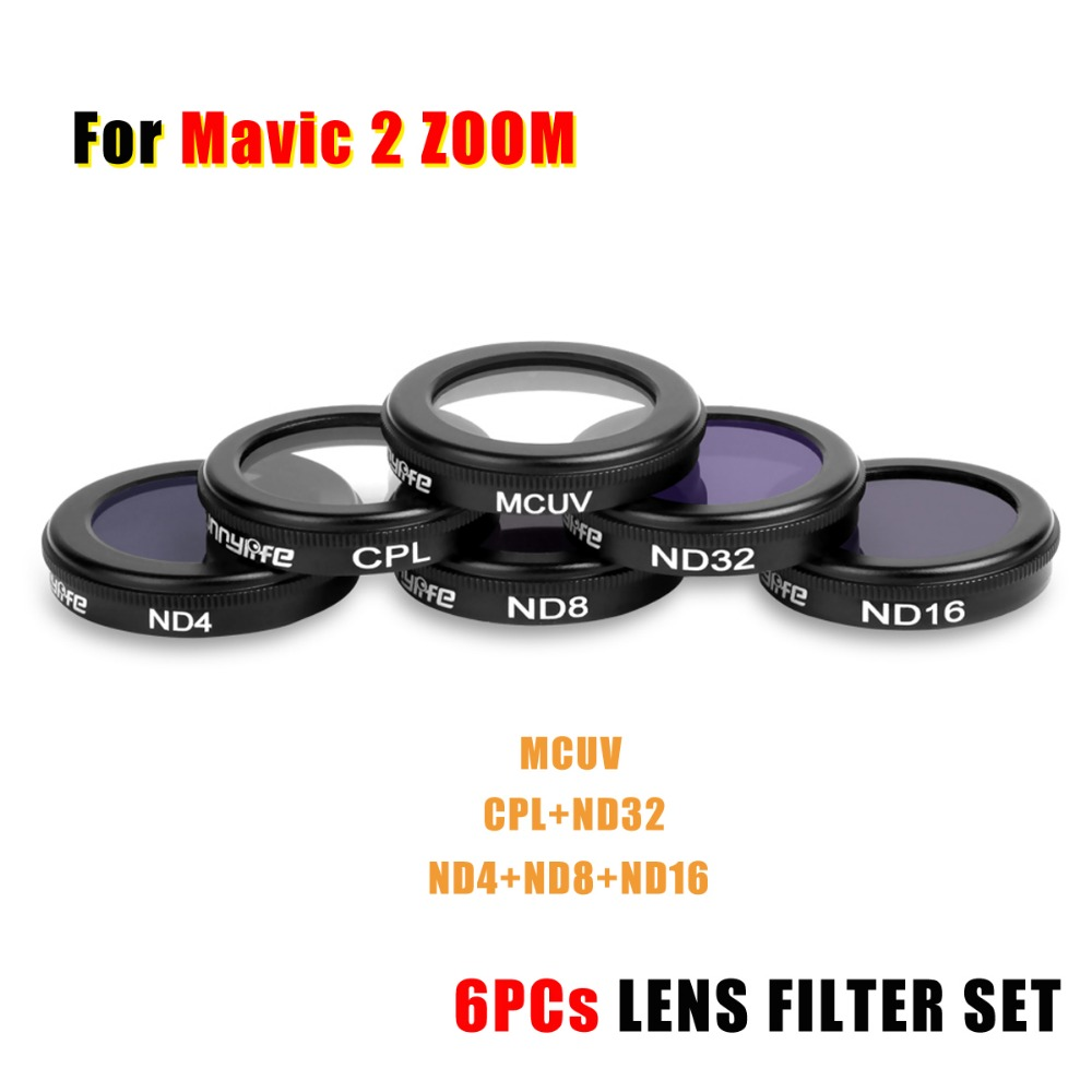 New Upgraded Snap on MCUV CPL ND4/8/16/32 LENS Filter Bundle Kit Set Camera Lens Filter Kit for DJI Mavic 2 Zoom Camera Drone new upgraded version camera lens remote controller screen display protective film for dji mavic pro rc drone fpv